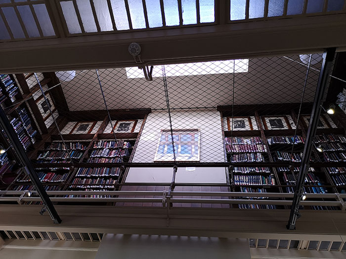 Second floor of the library at Liverpool Medical Institution