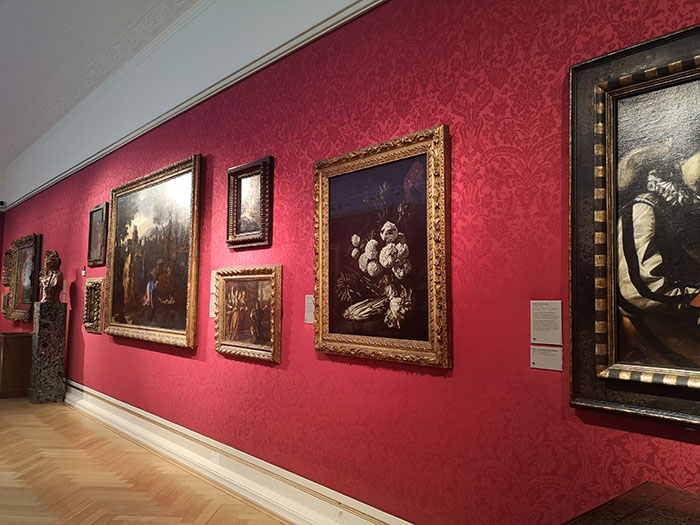 Paintings on display at the Ashmolean