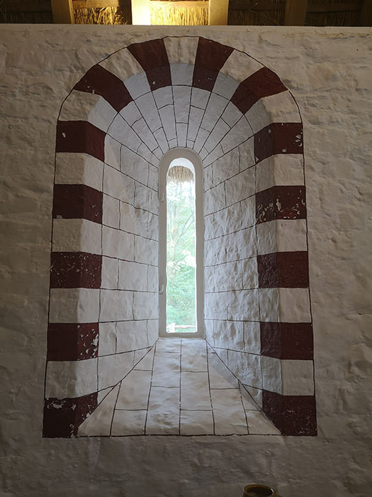 Window in the castle at St Fagans Museum