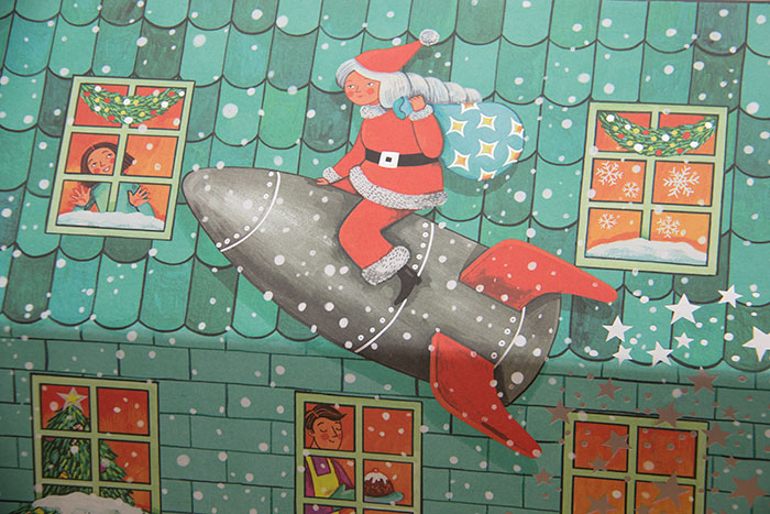 Dream Big Advent Calendar detail of Santa