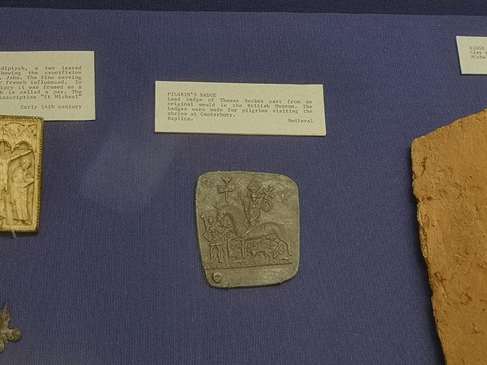 Badge on display