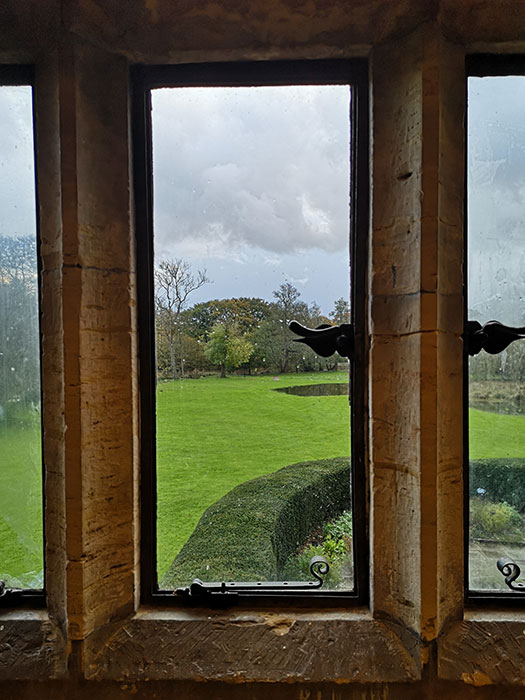 Looking out the window from Michelham Priory
