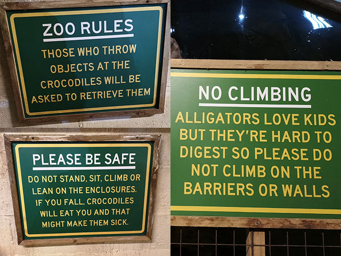 Safety at the zoo. Rules