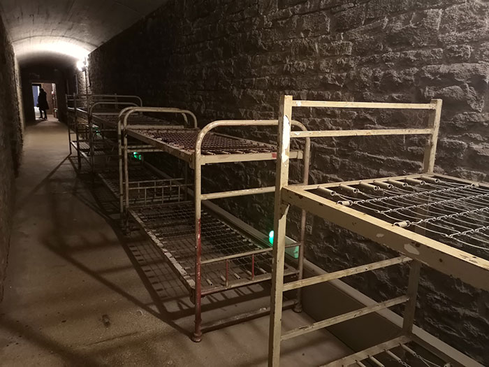 Beds in the Bomb shelter