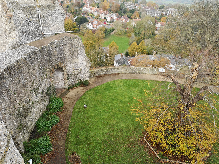 The castle, seen from above