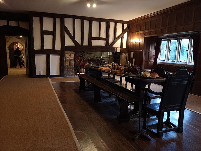 Dinner set at the Michelham Priory