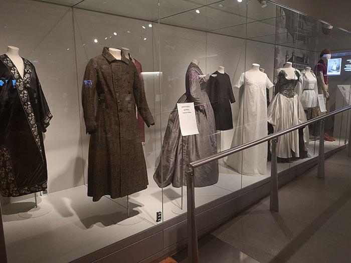 Victorian dresses on display