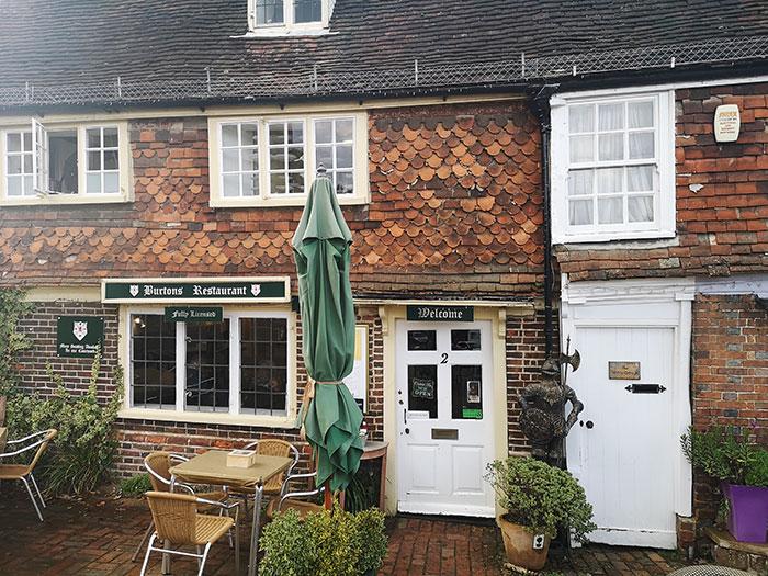 Mrs Burton's Restaurant, Hastings. Entrance