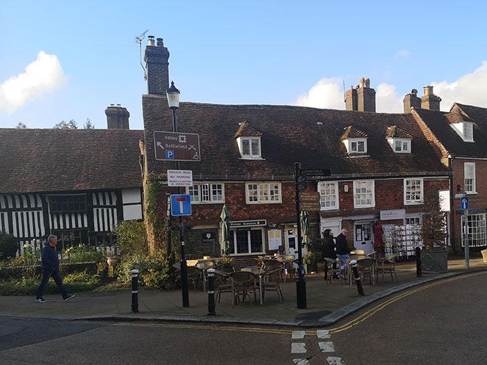 Mrs Burton's Restaurant, Hastings. Outside