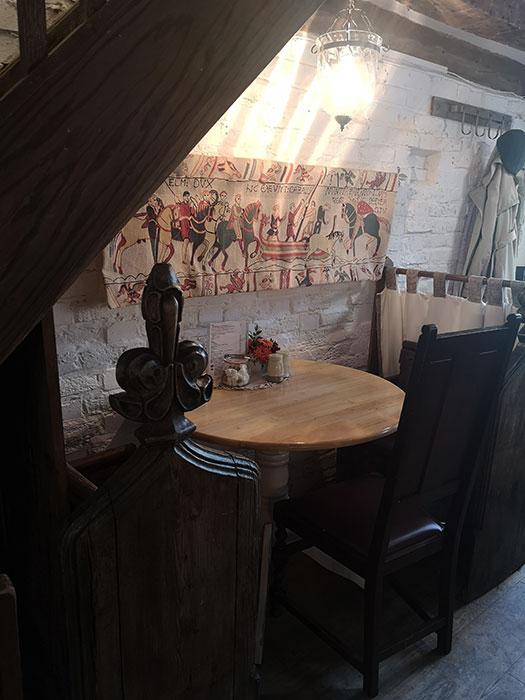 Table at Mrs Burton's Restaurant, Hastings
