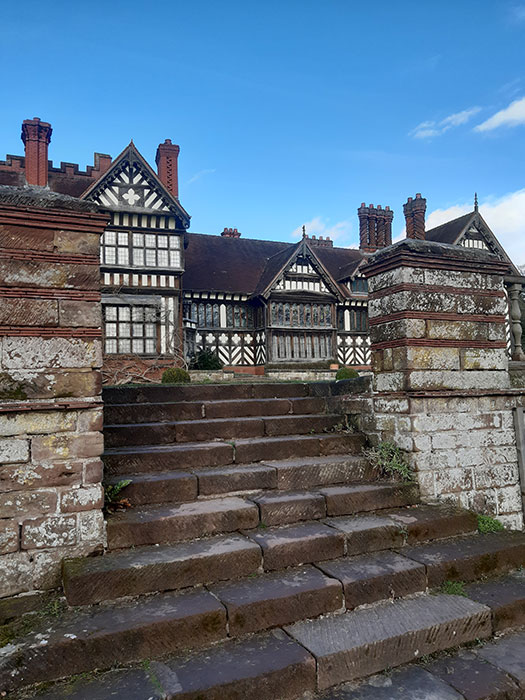 stairs to Wightwick Manor
