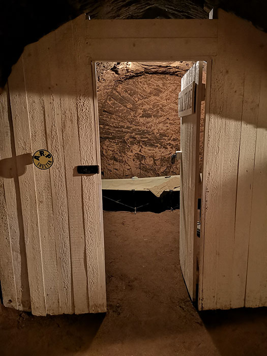 Room in the Stockport Air Raid Shelters