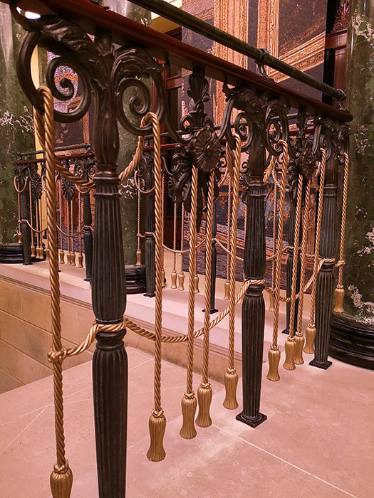 Staircase at Queen's Gallery at Buckingham Palace
