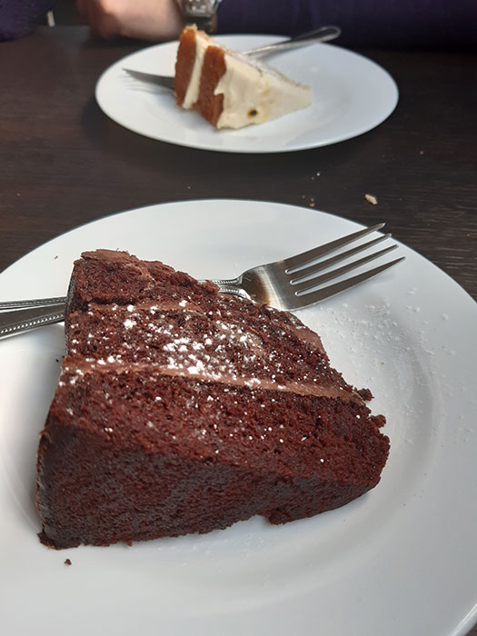 cake at EverGreen Boat Cafe