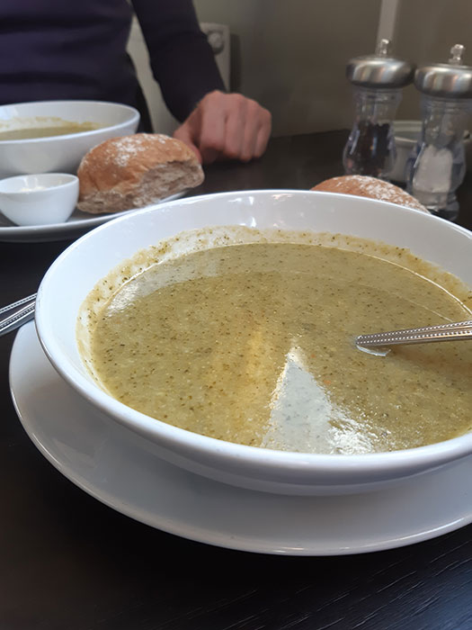 soup at EverGreen Boat Cafe