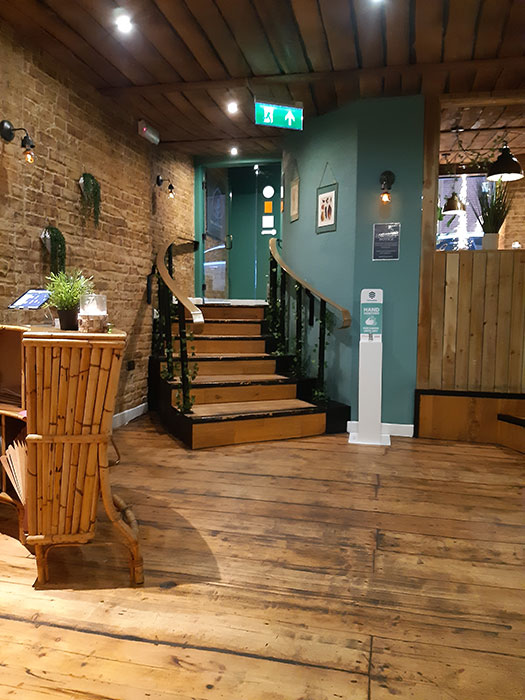 Allotment Vegan Eatery - Stairs