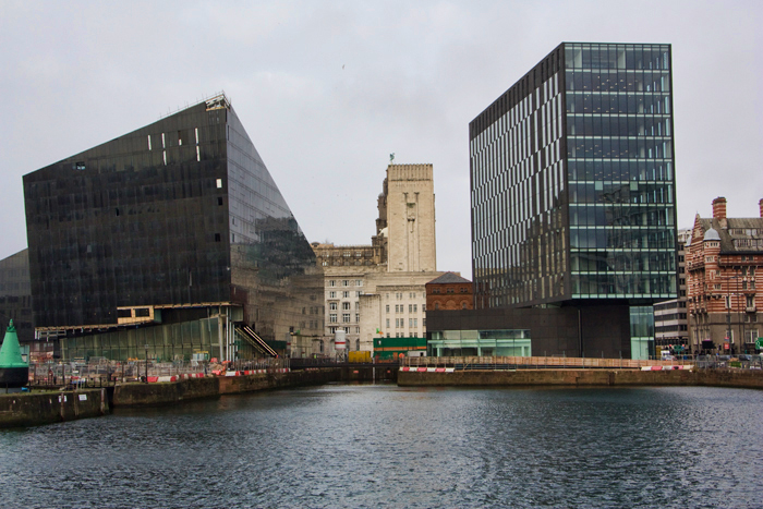 the docks in Liverpool