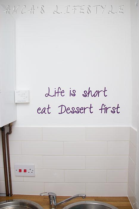 02 Life is short, eat dessert first stickers wall art
