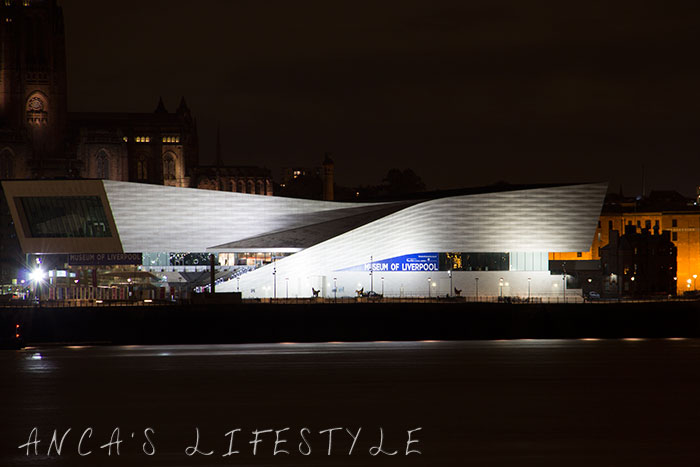 Liverpool waterfront night Museum of Liverpool