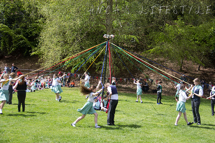 21 Victorian May Day at Quarry Bank National Trust with maypole dancing