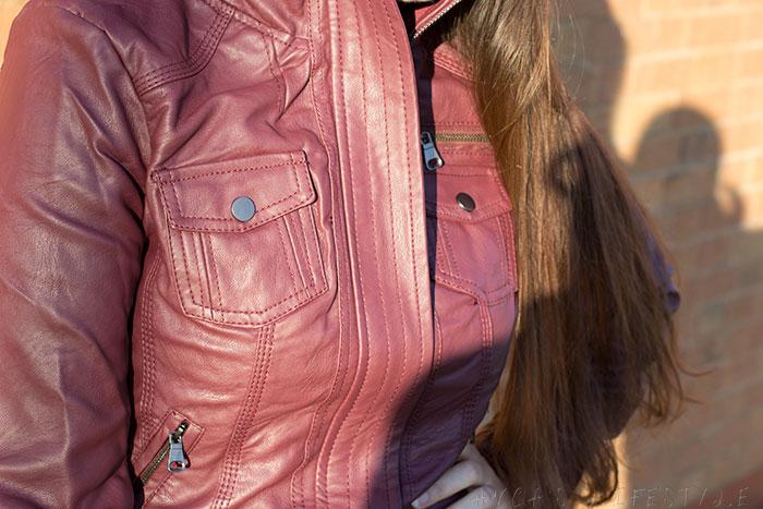 Cavalini wine Vegan leather jacket