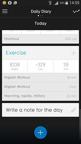 03 Screenshot kiqplan fitness app