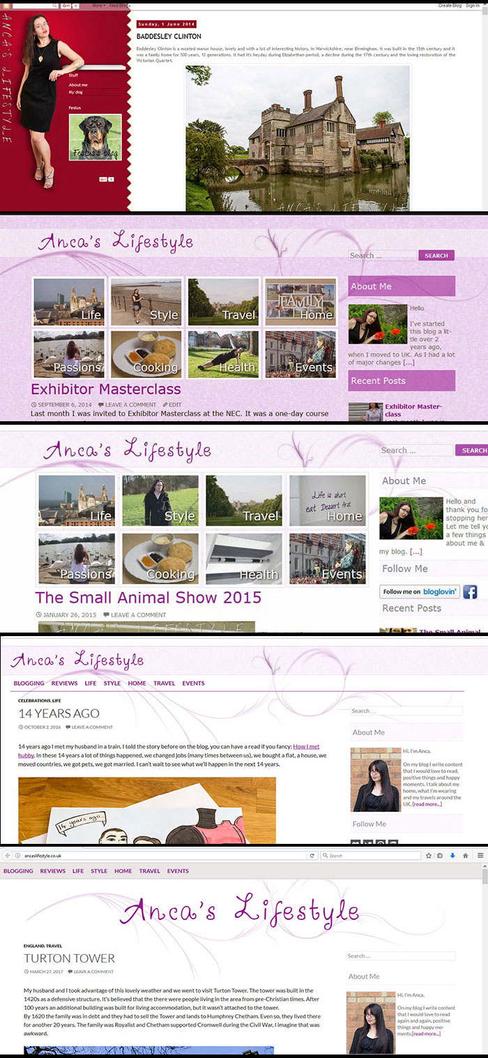 My blog through the years
