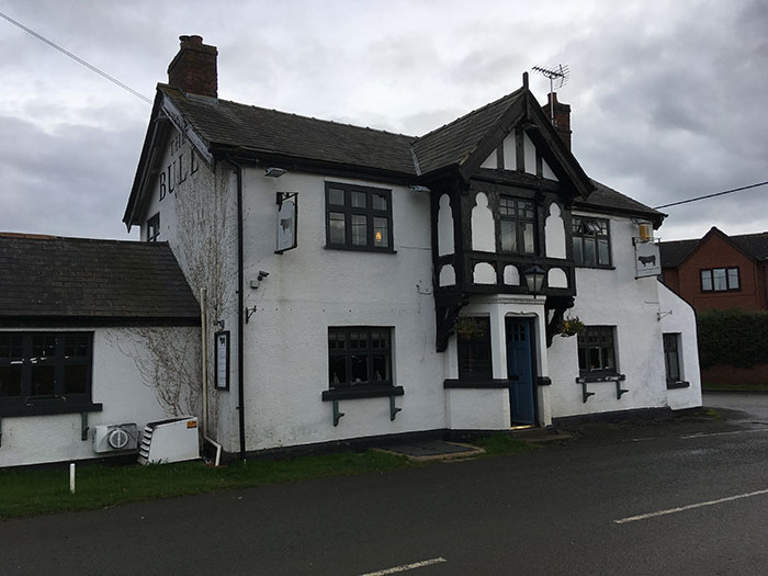 The Bull Pub Malpas, from outside