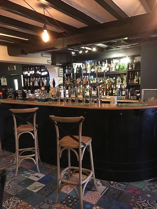 The bar at the Bull Pub Malpas