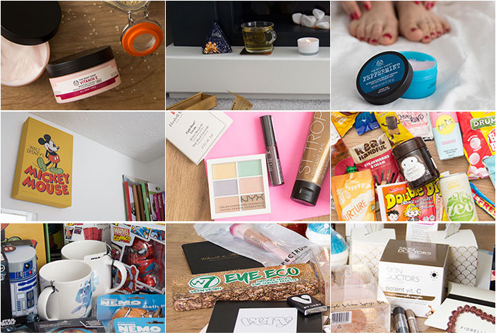 10 items I loved this year from the goodie bags. Collage of pictures