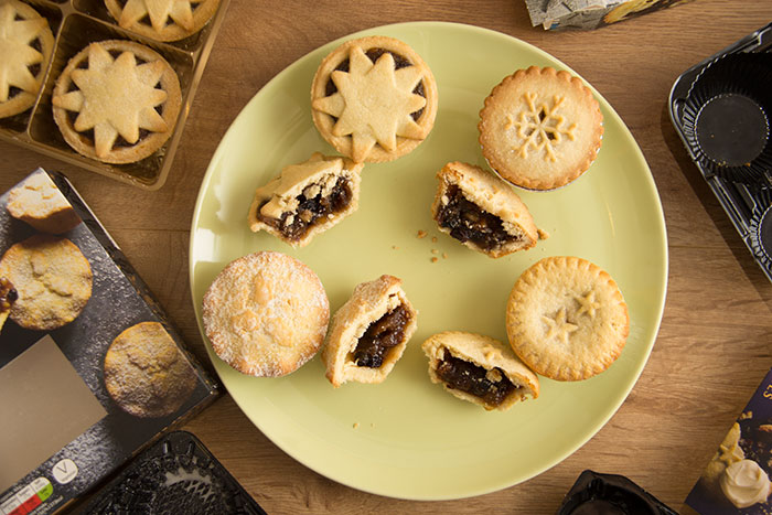 Best Luxury Mince Pies - pies cut in half, on the plate