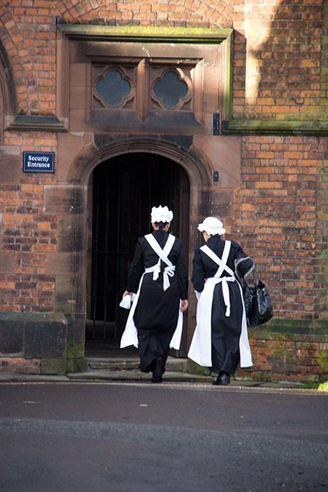 Volunteers dressed as Kitchenmaids