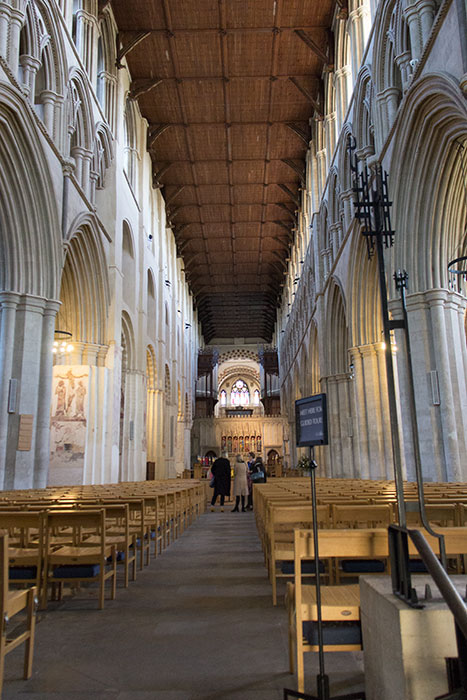 St Albans Cathedral. Inside