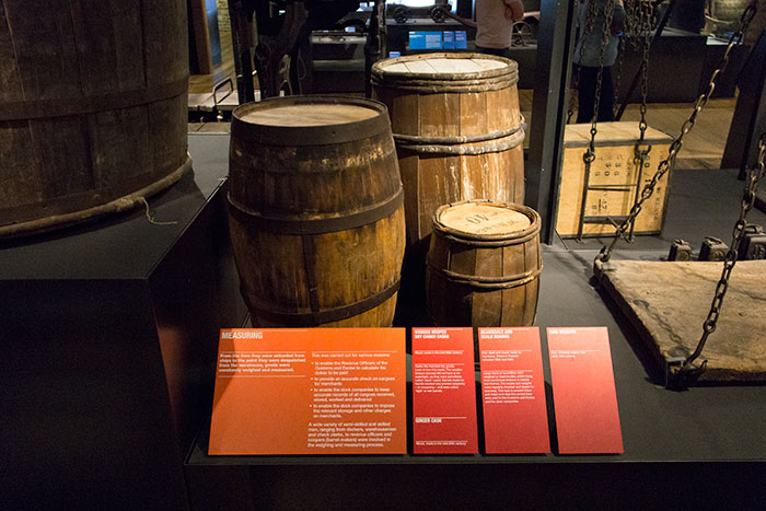 Barrels at Museum of London Docklands