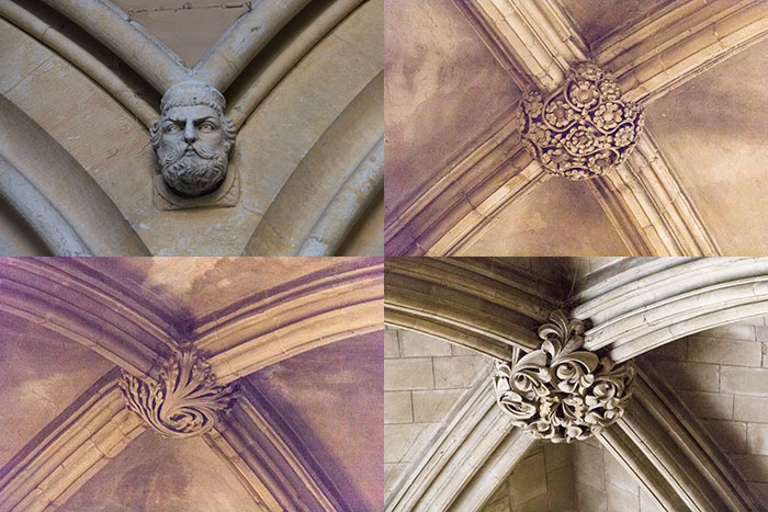 St Albans Cathedral. Wall and ceiling decor