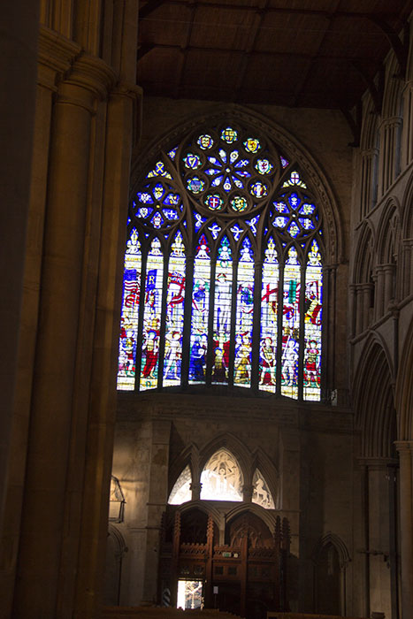 St Albans Cathedral. Stained glass