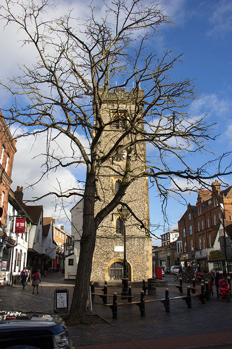 Clock tower in St. Albans