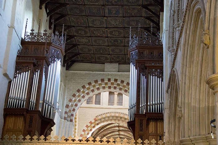 St Albans Cathedral. Interior