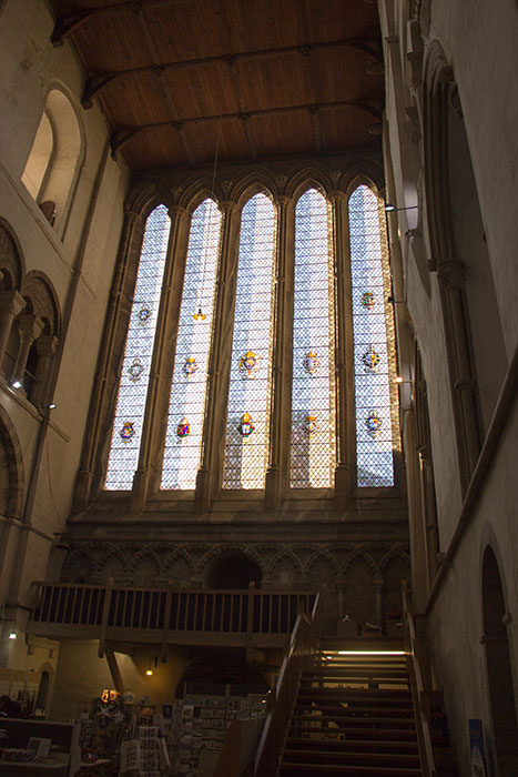 St Albans Cathedral. Stainned glass