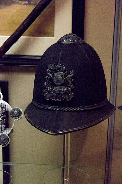 Policeman helmet
