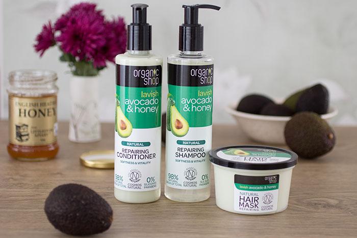Organic Shop Hair Products - Avocado And Honey Range