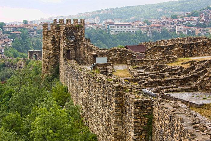Wall at Veliko Tarnovo Bulgaria
