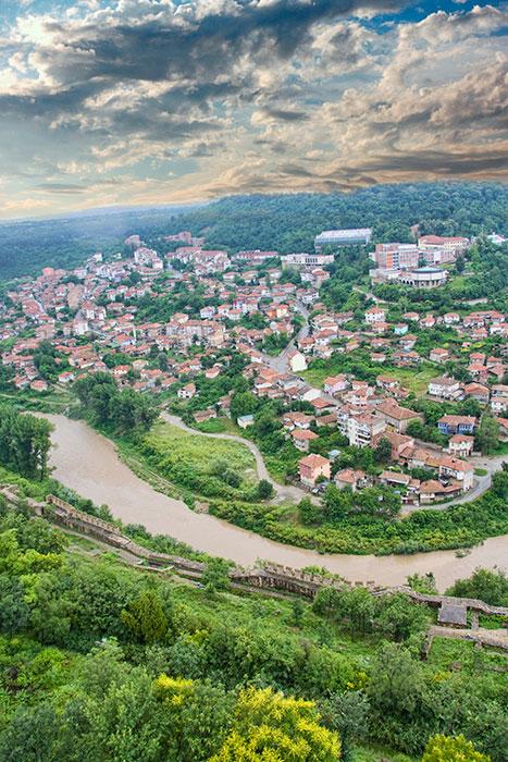 Landscape from Veliko Tarnovo Bulgaria
