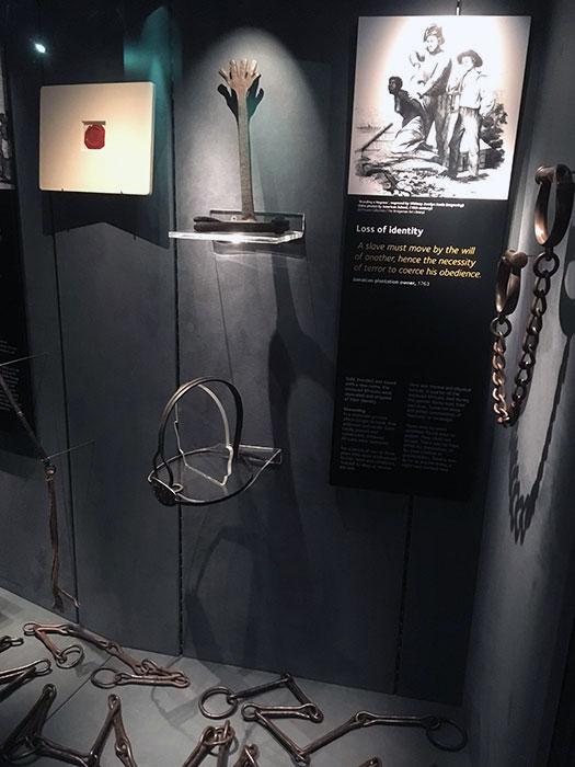 International Slavery Museum. Metallic muzzle