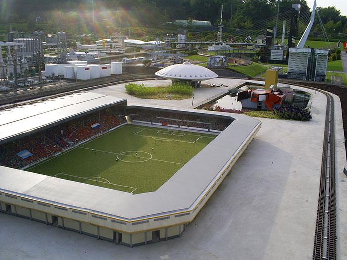 Football stadium. Madurodam