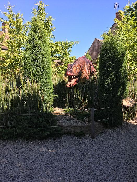The Oxfordshire Museum. Dinosaur garden