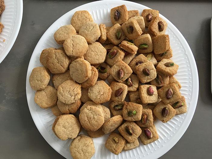 Bubblegum Biscuits and Pistachio Biscuits