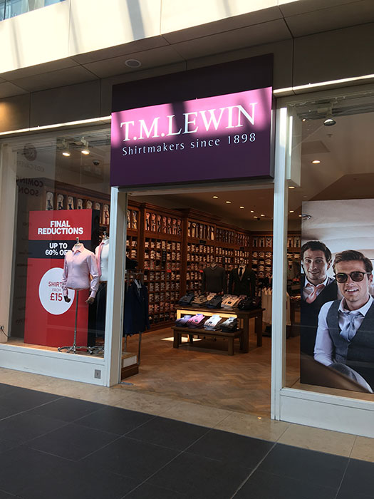TMLewin at Metquarter. Outside the shop