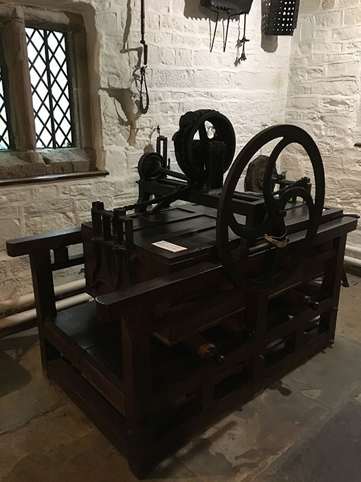 Clothes press at Hall i'th' Wood Museum