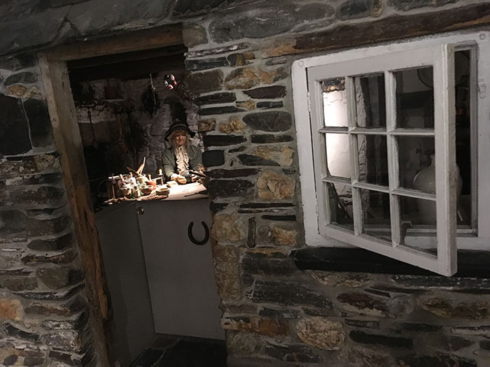 Recreation of a cottage at The Museum of Witchcraft and Magic
